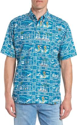 Reyn Spooner Hawaiian Sports Classic Fit Pullover Sport Shirt
