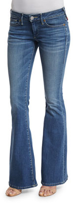 True Religion Karlie Low-Rise Bell-Bottom Jeans, Authentic Blue $142 thestylecure.com