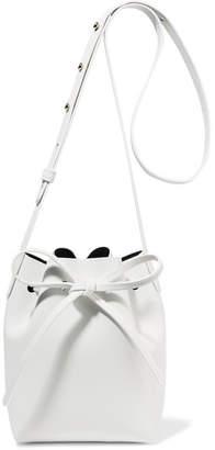 Mansur Gavriel Mini Mini Leather Bucket Bag - White