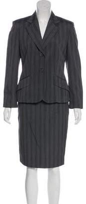 Alberta Ferretti Silk & Wool-Blend Skirt Suit