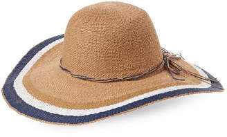 Scala Tricolor Toyo Floppy Hat