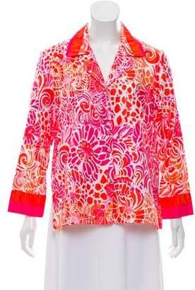 Oscar de la Renta Printed Pajama Top w/ Tags