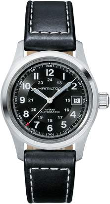 Hamilton Khaki Field Automatic Leather Strap Watch, 38mm