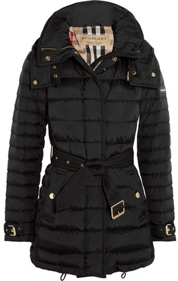 Burberry - Quilted Shell Down Coat - Black $1,150 thestylecure.com