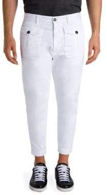 DSQUARED2 Cropped Cotton Cargo Pants