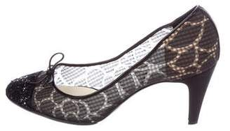 Chanel Sheer Bow Pumps