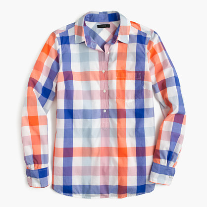 J.Crew Popover shirt in oversized plaid