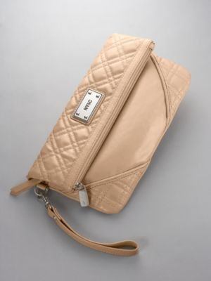 City Style Quilted Fold Over Clutch