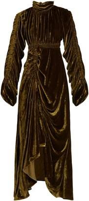 Preen by Thornton Bregazzi Bradley cut-out back velvet dress