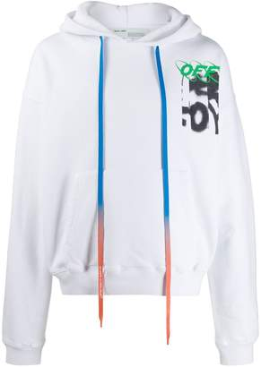 Off-White spray logo print hoodie