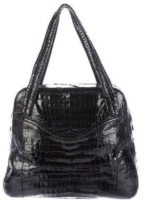 Nancy Gonzalez Large Crocodile Bowling Bag