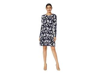 MICHAEL Michael Kors Tos Lace Long Sleeve Flare Dress