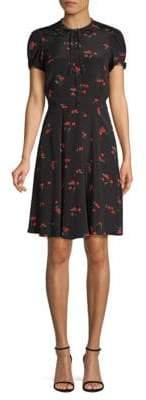 Polo Ralph Lauren Cherry-Print Crepe Dress