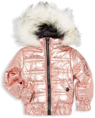 Urban Republic Little Girl's & Girl's Faux Fur-Trimmed Hooded Puffer Jacket
