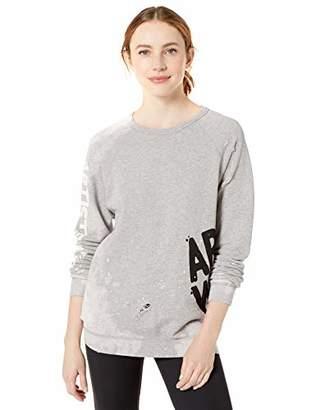 Freecity Women's AW Destroy Holes Splash Raglan Sweatshirt, Heather