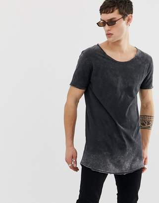 0306697dbefb Asos Design DESIGN relaxed super longline t-shirt with scoop neck and curved  hem in