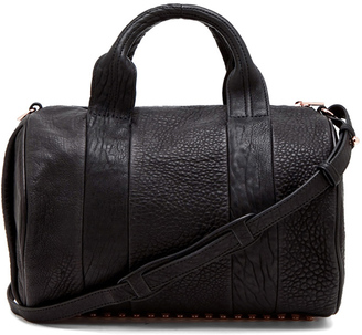 Alexander Wang Rocco Satchel with Rose Gold Hardware $925 thestylecure.com