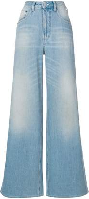 MM6 MAISON MARGIELA light wash wide-leg jeans
