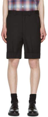 N.Hoolywood Black Wool Shorts