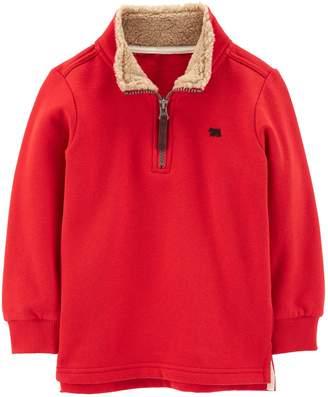 Carter's Toddler Boy Sherpa 1/4 Zip Pullover Sweater