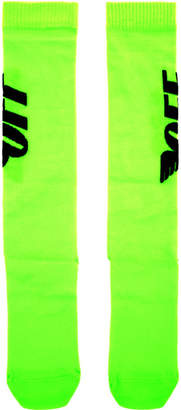 Off-White Green Wings Socks