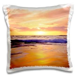 3dRose USA, California, San Diego, Sunset Cliffs beach at Sunset. - Pillow Case, 16 by 16-inch