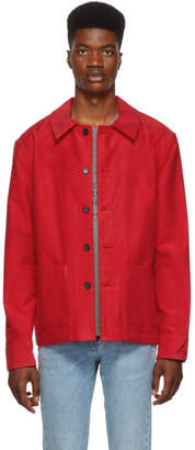Simon Miller Red Brushed Moleskin Jacket