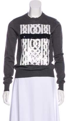 Christian Dior Sequin Wool Sweater Grey Sequin Wool Sweater