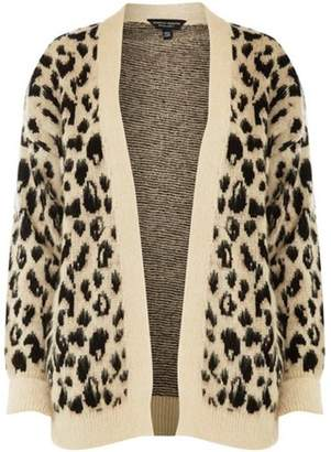Dorothy Perkins Womens Brushed Leopard Print Cardigan