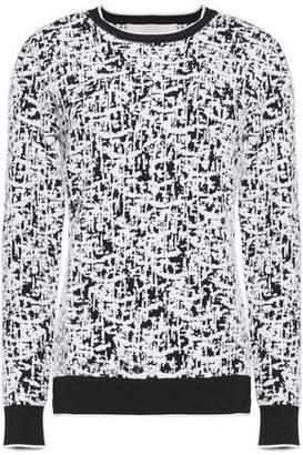 Jason Wu Rib-Trimmed Intarsia Stretch-Knit Sweater