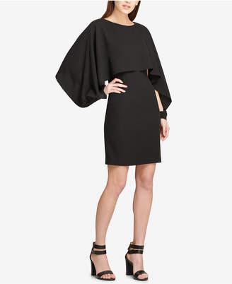 DKNY Chiffon-Cape Sheath Dress, Created for Macy's