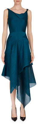 Roland Mouret Meltonby Sleeveless Asymmetric-Hem Dress