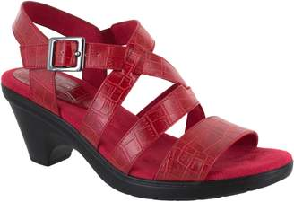d5b00a7a4cfe Easy Street Shoes Heeled Crossover Strap Sandals - Gretchen