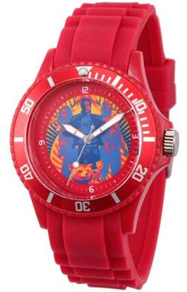 Marvel Guardians of the Galaxy Vol 2 Star-Lord, Groot, Gamora,Rocket Raccoon and The Milano Unisex Captain America Red Plastic Watch, Red Bezel, Red Plastic Strap