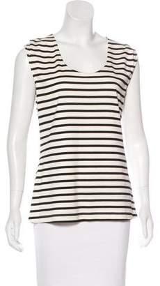 Lela Rose Striped Sleeveless Top