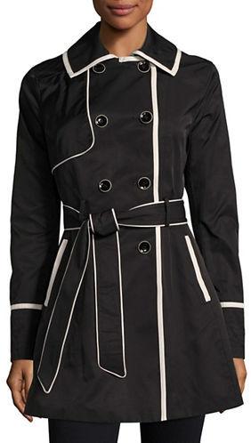 Betsey JohnsonBetsey Johnson Lace-Up Back Corset Trench Coat