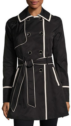 Betsey Johnson Lace-Up Back Corset Trench Coat $200 thestylecure.com
