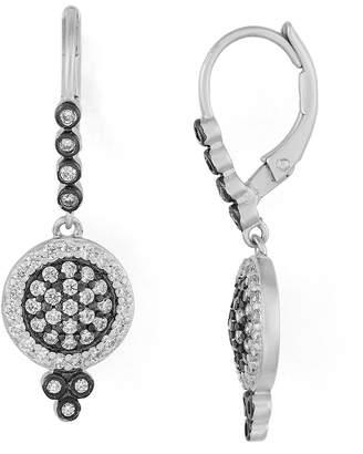 Freida Rothman Pave Disc Leverback Earrings
