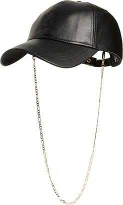 Kangol Luxe Faux Leather Baseball Cap