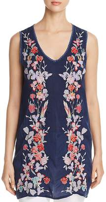 Johnny Was Cattleya Embroidered Tunic Top