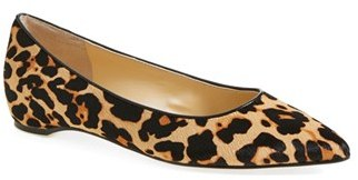 Women's Ivanka Trump 'Chic' Genuine Calf Hair Flat $99.95 thestylecure.com