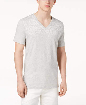 Armani Exchange Men's V-Neck Logo T-Shirt