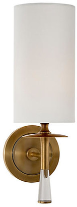 AERIN Drunmore Single Sconce - Brass/Clear/Off-White
