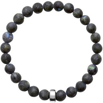 A+ro Ora Pearls ARO Men's Larvikite Bracelet Silver Bead - Large