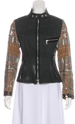 Dries Van Noten Embellished Zip-Up Jacket