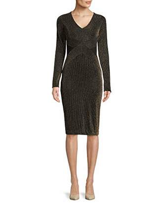 Rachel Roy Women's Sparkle Stripe Knit Dress