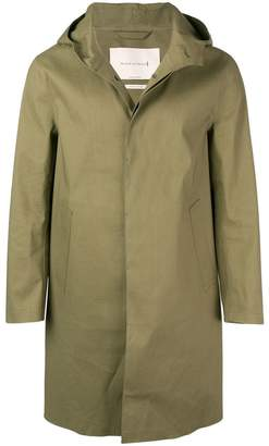 MACKINTOSH Khaki Bonded Cotton Hooded Coat