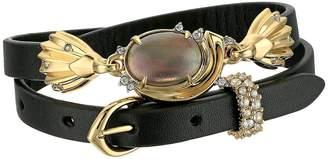 Alexis Bittar Crystal Studded Golden Array Adjustable Wrap Bracelet/Choker Bracelet