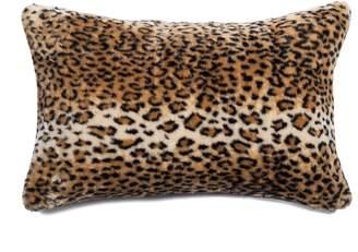 Kinetic Belton Faux Fur Pillow - Leopard