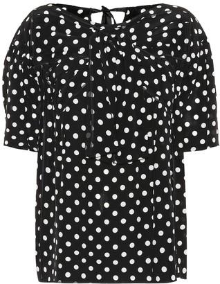 Marc Jacobs Polka-dot silk top